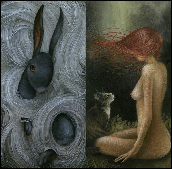 Волны из волос как символ мечты и тайны