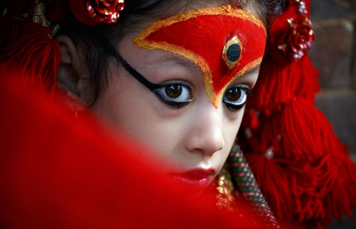 Индийские фестивали: маленькая богиня Кумари. Фото Чани Анана