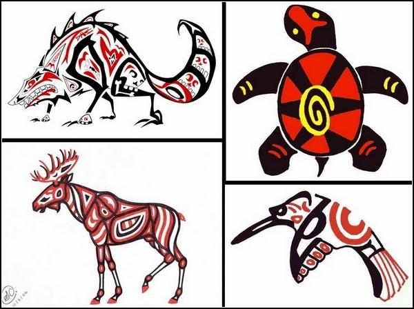 Индейская Америка в картинках: диковинные звери