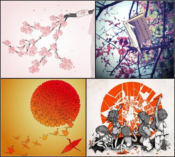 Гуманитарная помощь от художников: картины и плакаты в поддержку Японии