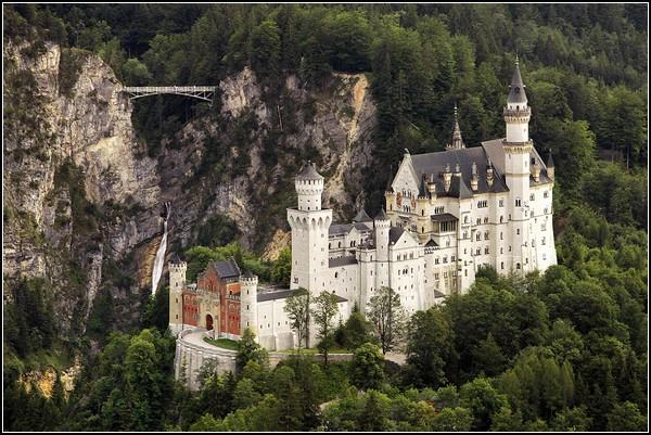 Годовщина смерти Людвига II в замке Нойшванштайн, Бавария