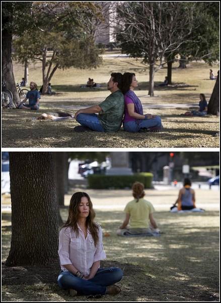 Медитативный флешмоб. Парк, усеянный йогами