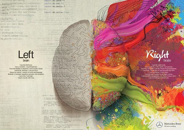 Асимметрия полушарий: художественная реклама