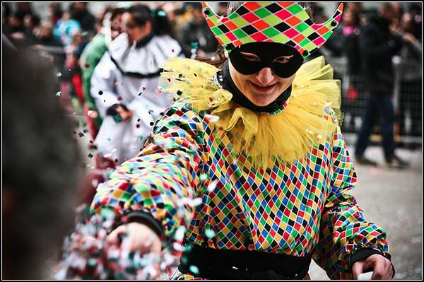 Праздник клоунов в Милане: цвет веселья