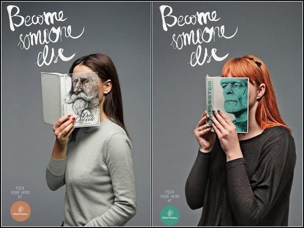 Книжная реклама: портрет читателя Сервантеса и Мэри Шелли