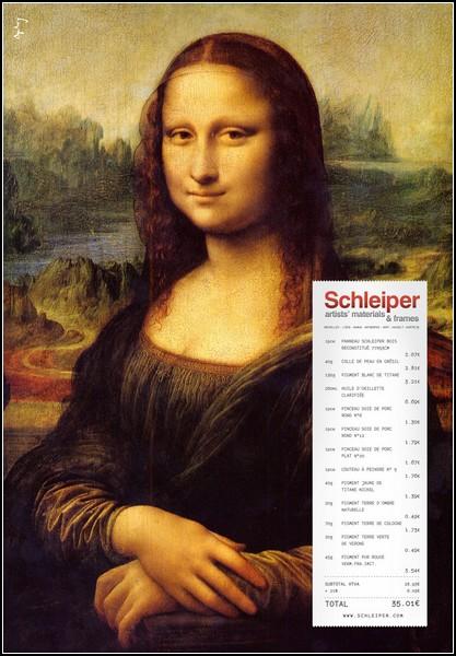 Улыбка Моны Лизы в рекламе: Schleiper