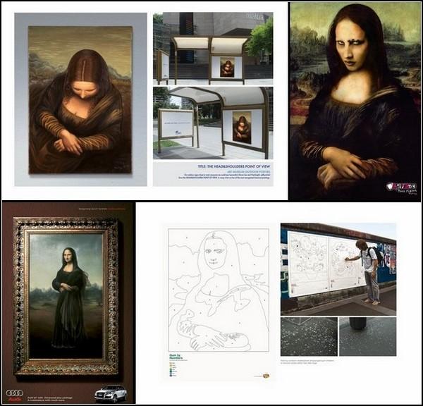Улыбка Моны Лизы в рекламе: обзор креатива