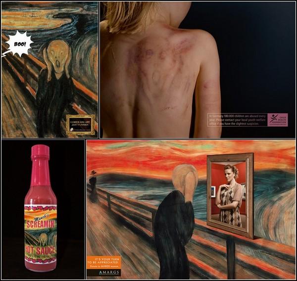 *Крик* Эдварда Мунка в рекламном искусстве. Обзор