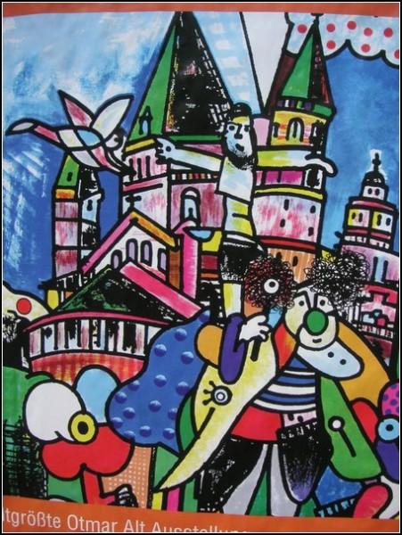 Плакат с большой выставки произведений Отмара Альта в Майнце