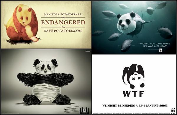 Панда, затаившаяся в креативной рекламе