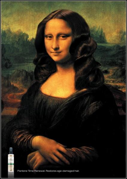 Улыбка Моны Лизы в рекламе: Pantene