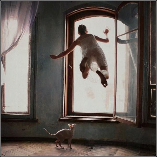 Полет фантазии и левитация человека. Фотокартины Анны Журавлевой