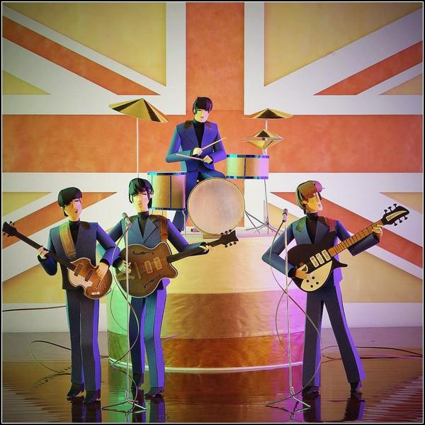 Великие музыканты из бумаги. Beatles