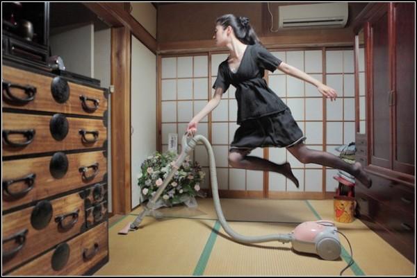 Фото в прыжке Hayashi Natsumi