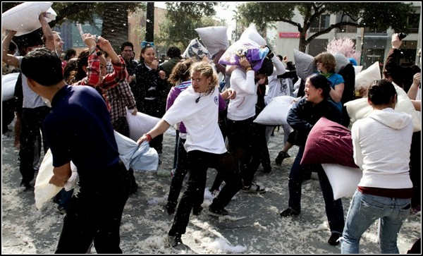 Бой подушками в Сан-Хосе: поле брани