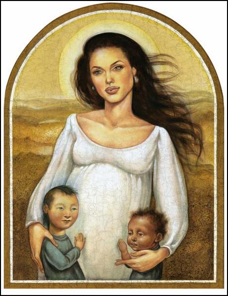 Шаржи и карикатуры Аниты Кунц: Анджелина Джоли