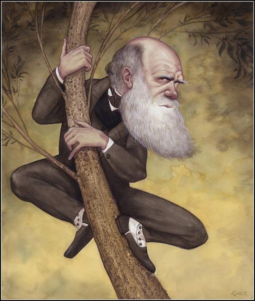 Шаржи и карикатуры Аниты Кунц: Чарльз Дарвин