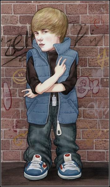 Шаржи и карикатуры Аниты Кунц: Джастин Бибер