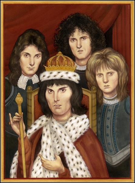 Шаржи и карикатуры Аниты Кунц: Queen