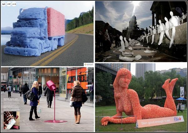 Искусство скульптуры в рекламе: обзор