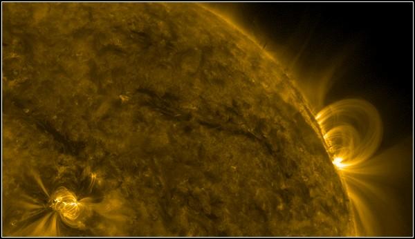 Фото Солнца, космоса и Земли, полученные NASA. Магнитная буря 29 ноября 2010 года