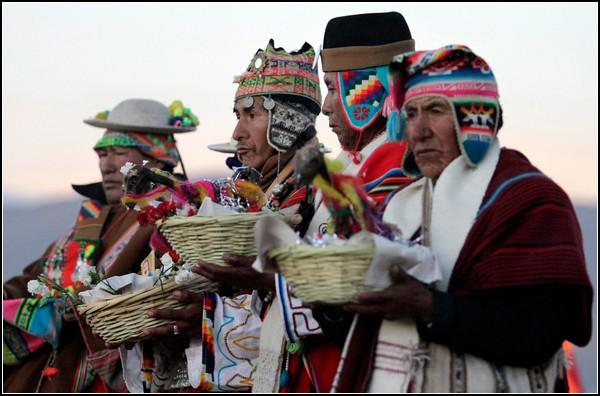 Зимнее солнцестояние у индейцев аймара в Боливии
