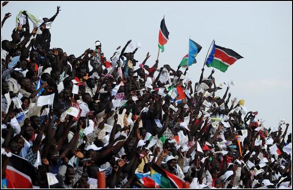 Жители Южного Судана встречают историческую зарю