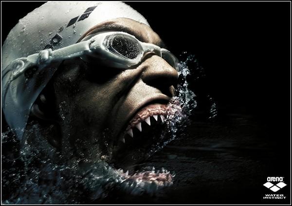 Необычный спорт: челюсти пловца