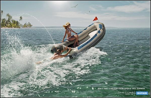 Необычный спорт: поработай мотором лодки