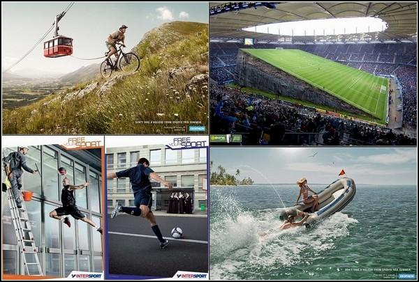 Необычный спорт в креативной рекламе