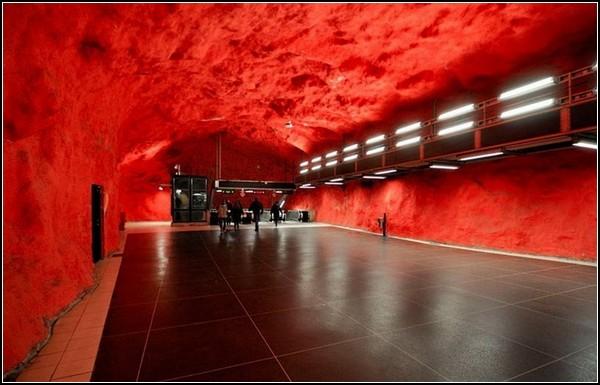 Метро Стокгольма: красная ветка