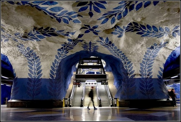 Метро Стокгольма: метро в пещере горного короля