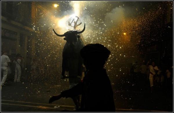 Летние фестивали-2011: быки в Памплоне