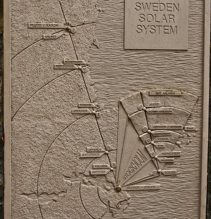 Шведская модель Солнечной системы: карта