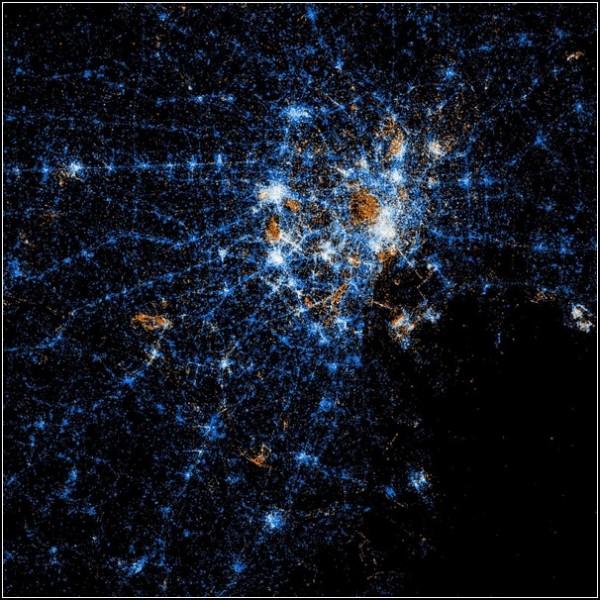 Карты пользователей Flickr и Twitter. Токио