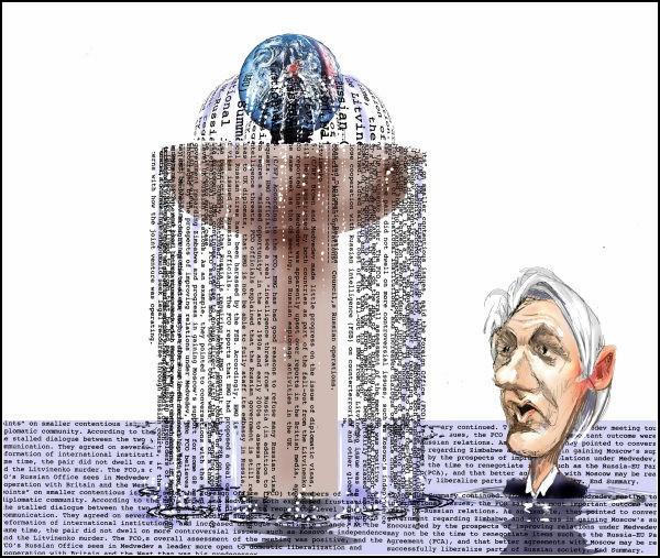 Документы WikiLeaks в карикатурах. Фонтан компромата