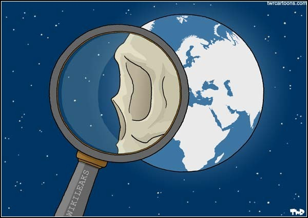 Документы WikiLeaks в карикатурах. Череп мира