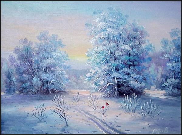 Зима. Закат. Александр Ямполь