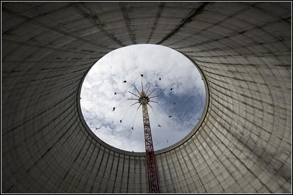 Труба-карусель на атомной станции в Калькаре