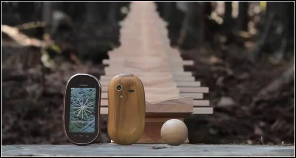 Ксилофон - реклама деревянных телефонов TOUCHWOOD