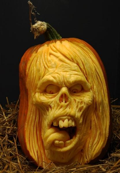 Тыквы на Хэллоуин: скоропортящиеся скульптуры от Ray Villafane