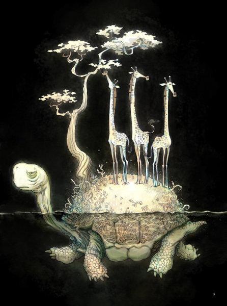 Иллюстрации Ken Wong: темная сторона мечты