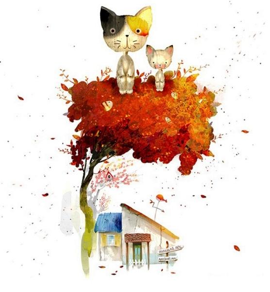 Иллюстратор Shin Jae Won и его забавные животные