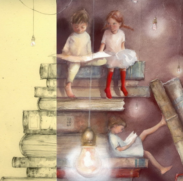 Иллюстрации к сказкам: нежные акварели от Marina Marcolin