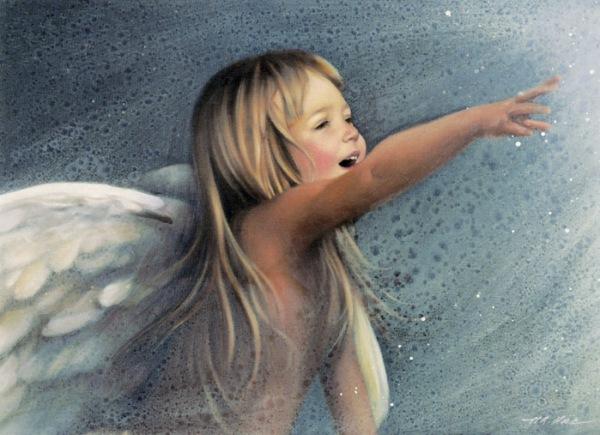 """Прекрасные дети на картинах Нэнси Ноэль: """"Ангел чуда"""""""