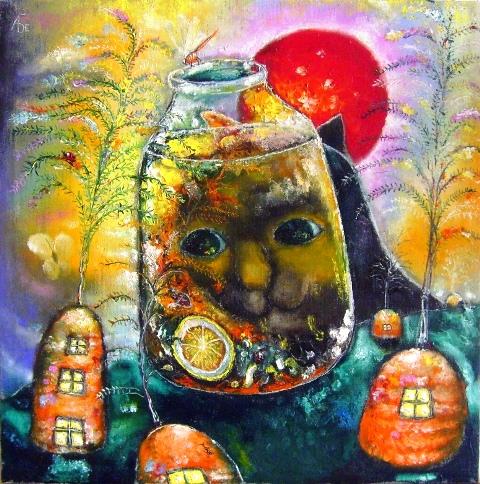 Наивное искусство: добрые картины Алексея Белякова