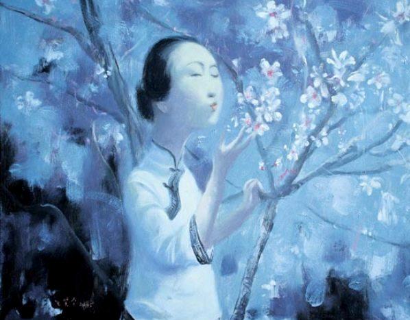 Нежные картины от Wang Xiaojin - синтез традиционных техник и современности