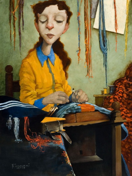 Романтизм в живописи: «Немного наивные» картины от Fred Calleri