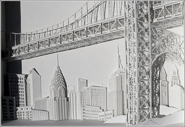 Мировые достопримечательности из бумажных городов: мост Джоржда Вашингтона (Нью-Йорк)