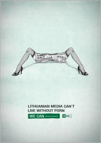 Литовская газетная реклама: «СМИ жить не могут без порнографии»